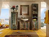 massivum Badmöbelset Blue Lagoon 4 teilig Mango, Holz, bunt, 42 x 45 x 130 cm