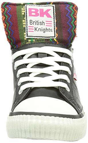 British Knights Dee, Baskets hautes femme Noir - Schwarz (Black-Pink07)