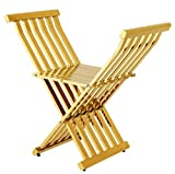 Casa Padrino Luxus Klapp Stuhl Edelstahl Gold - Vintage Art Deco Möbel
