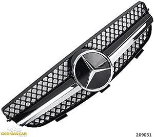 Germancarparts Gcp 209031 Grill Schwarz Chrom Auto