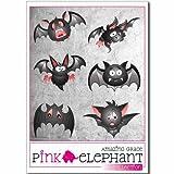 pinkelephant Aufkleber - Fledermaus 11 - A4-Bogen - Bat - Halloween