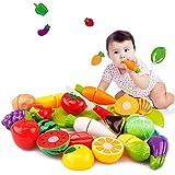 Juguete del bebé, RETUROM Juguete del cabrito educativo vegetal del juguete de la fruta del corte 20PC