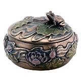 Stealstreet Grenouille assis sur Lily Décoration Art nouveau design Boîte à bijoux