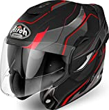 CASCO HELMET MODULARE MENTONIERA RIBALTABILE AIROH REV REVOLUTION MATT RED (L)