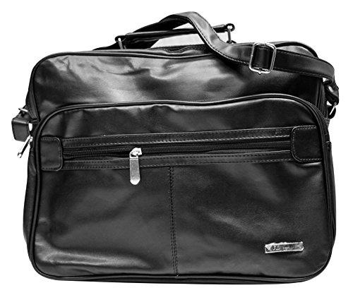 Herren Arbeitstasche Flugbegleiter Businesstasche - Handwerkertasche Schwarz Handwerker Tasche Umhängetasche Reisetasche Flugtasche Schultertasche, Querformat, XXL