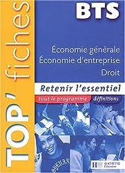 Economie générale, économie d'entreprise, droit BTS