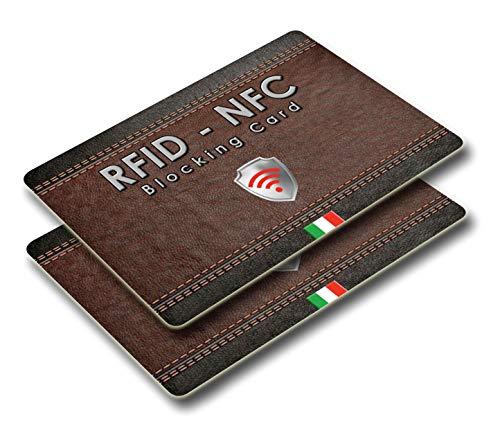 f441c159a82013 2 pezzi Protezione Anti RFID per Carte di Credito Contactless – Blocco RFID  & NFC -