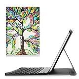 Fintie Blade X1 Samsung Galaxy Tab E 9.6 Bluetooth Tastatur Hülle Keyboard Case - Ultradünn leicht SlimShell Ständer Schutzhülle mit magnetisch abnehmbar drahtloser Bluetooth Tastatur für Samsung Galaxy Tab E T560N / T561N 24,3 cm (9,6 Zoll) Tablet-PC, Liebesbaum