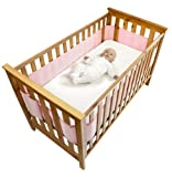Safe Dreams 4 Sided Cot Wrap with 100% cotton surface (Pink)