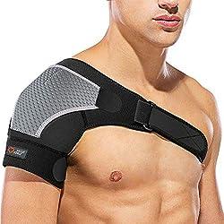 SPITZE FORGE Schulterbandage Verstellbare Linke oder Rechte, Neopren Unisex Kompatibel mit Kalte/Heiße Packung, zur Vorbeugung von Verletzungen, Gefrorenen Schultern, Verstauchungen (Richtig)