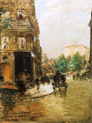 Das Museum Outlet-Paris Street Scene, 1889-Poster (mittel)