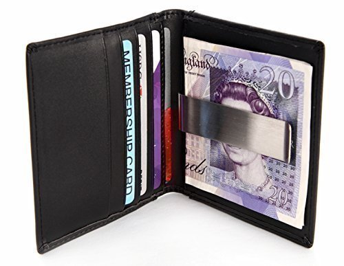 pelle di qualità fermasoldi carta di credito supporto con Oyster / pass di viaggio finestra