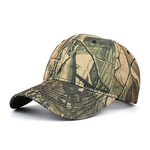 Outdoor Kappe Jagd Echt Baum Camouflage Camo Cap Erwachsene Blätter Baseballmütze Hut Lässig Hut Einstellbar,C -
