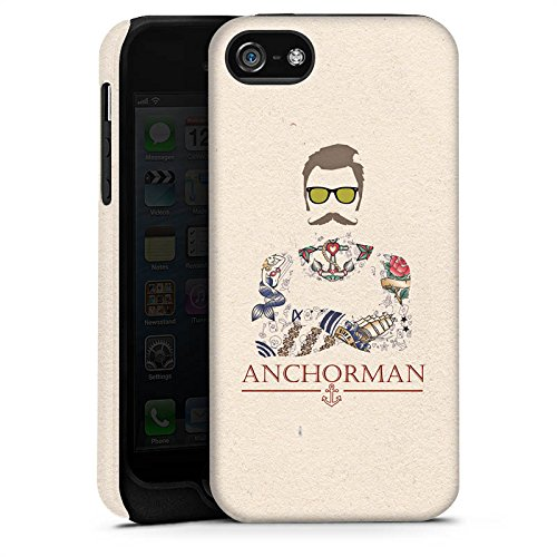 Apple iPhone 6 Plus Silikon Hülle Case Schutzhülle Schnurrbart Anchorman Tattoo Anker Tough Case matt