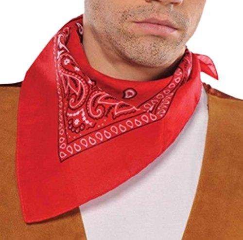 Bandana Halstuch , Rot (Cowboy Shot-gläsern)
