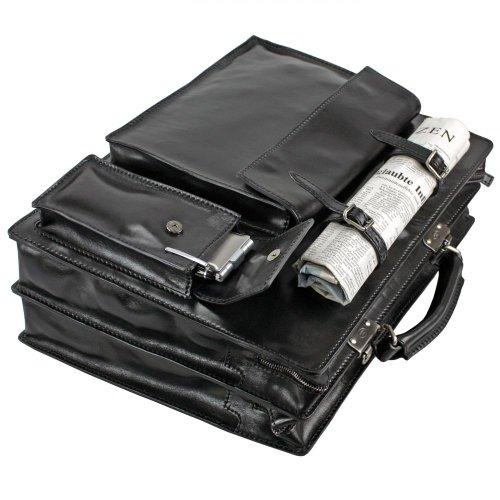 c2830a1841 Cartella per documenti,Borsa laptop STORY UOMO in pelle nera The Bridge  064399/01/20