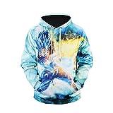 WEIYIGE Sweatshirt 3D Saison Herrenhemd Jacke Dragon Ball Sun Wukong Print Rundkragen Pullover Batch, M