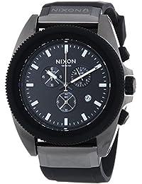 Nixon Herren-Armbanduhr XL Rover Chrono Gunmetal Black Chronograph Quarz Silikon A2901531-00
