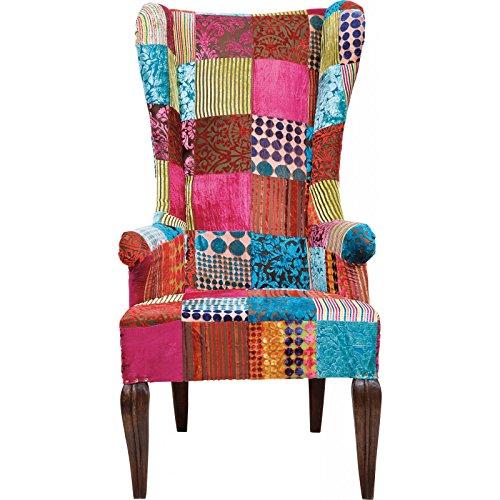 Kare Design – Chaise Patchwork Aile en Velours, Tissu, Multicolore, 120 x 80 cm