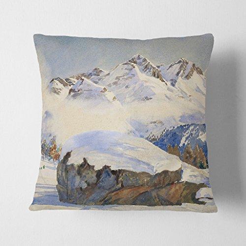 Grande Scatola Art Hans Beat Wieland Swiss Paesaggio 5,1cm Antracite con Schienale Cuscino Cuscino, 17x 43,2cm