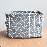 erthome Desktop Schutt Aufbewahrungsbox Tasche faltbare Spielzeug Aufbewahrungsbox Make-up Box Container Organizer Stoffkorb (Grau, 20 x 15 x 13cm)