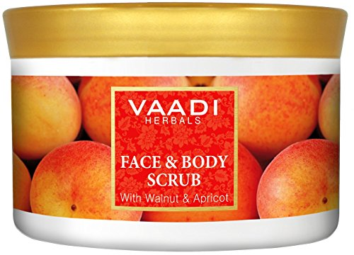 Vaadi Herbals Face and Body Scrub, Walnut and Apricot, 500g