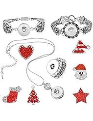 GYJUN Bijoux 1 Collier / 1 Bracelet / Anneaux / 1 paquet / Halloween / Quotidien 1set Femme Argent / Rouge Cadeaux de mariage