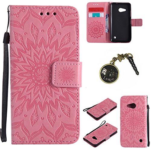 Preisvergleich Produktbild PU Lumia 550 / Nokia N550 Hülle, Klappetui Flip Cover Tasche Leder [Kartenfächer] Schutzhülle Lederbrieftasche Executive Design Microsoft Lumia 550 / Nokia N550 +Staubstecker (3GG)