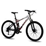 26 KCP MOUNTAINBIKE FAHRRAD RAD VETRON ALU 4 LINK mit 24 Gang ACERA weiss rot - 66,0 (26 Zoll)