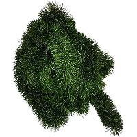 Ilkadim Guirlanda de pino de aprox. 5 m de longitud, diámetro de 8-10 cm, decoración navideña, 1 pieza