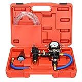 ECD Germany Testeur de système de Refroidissement - avec manomètre INCL. Tuyau d'aération et de Remplissage - Kit de Recharge de Liquide de Refroidissement sous Vide de Purge