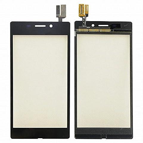 WeDone Pour Sony Xperia M2 Aqua D2403 D2406 Remplacement d'Ecran Vitre Tactile (Noir)