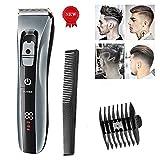 WYQWAN Haarschneidemaschine Professional für Männer Schnurlose Haarschneider Bart Rasierer Elektrische Haarschnitt Kit Ultra Low Noise Wiederaufladbar für Männer und Familie(H11)