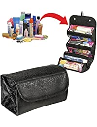 Greenery Large Capacity 4-Layer Roll-up Travel Storage Bag Foldable Toiletry Bags Organizer Cosmetic Makeup Bag...