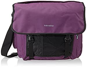 Travelite Umhängetasche Basics Messenger Tasche Lila (Aubergine) 96248-15