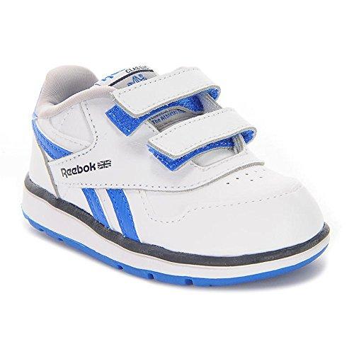 Reebok Mädchen Babyschuhe - Krabbelschuhe & Puschen Weiß/Blau (Mädchen Reebok Schuhe Basketball)