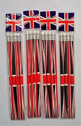 Union Jack 16crayons avec gomme Souvenir à collectio
