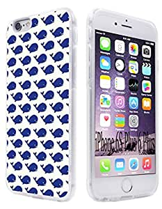 6S Plus Case,iPhone 6 Plus & 6S Plus Clear Soft 360 All Round Protective Case (5.5 inch) W Blue Bird Design