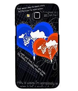 Fuson Premium Love Stays Metal Printed with Hard Plastic Back Case Cover for Samsung Galaxy Grand Max G7200