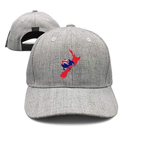 Preisvergleich Produktbild SunRuMo Kiwi of New Zealand Cotton Denim Adjustable Unisex Cricket Cap for Men Women