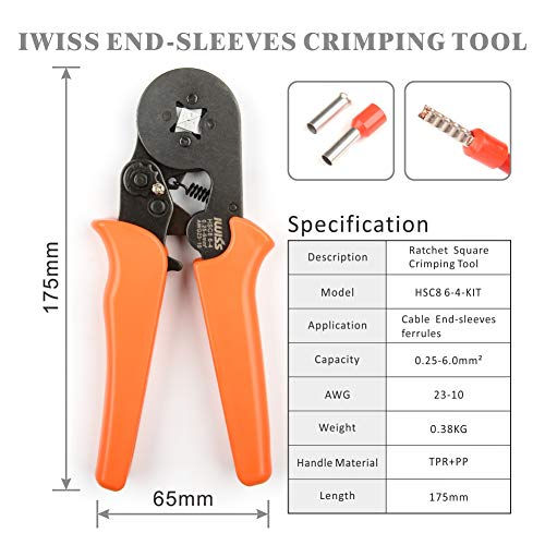 Zoom IMG-2 iwiss pinza crimpatrice in awg