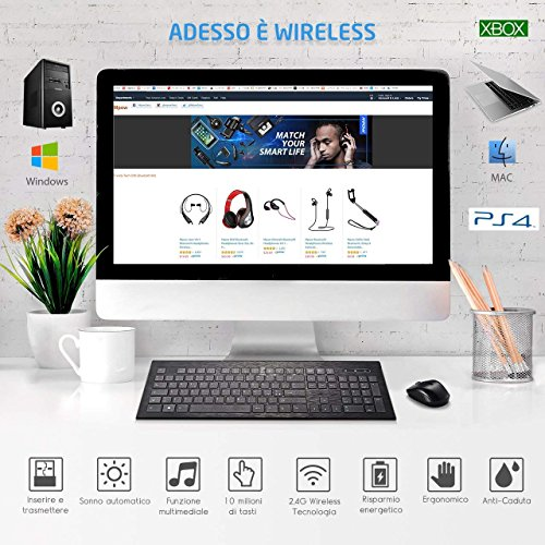 Zoom IMG-1 topelek tastiera wireless italiana ultrasottile
