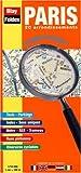 Plan de ville : Paris 20 arrondissements - Lecture facile (avec un index et légende en 5 langues) + en cadeau la cartes des radars de France...
