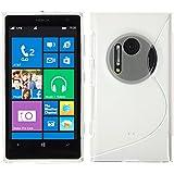 PhoneNatic Case für Nokia Lumia 1020 Hülle Silikon clear, S-Style + 2 Schutzfolien