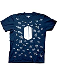Doctor Who Tally Marks marineblau Erwachsene T-shirt