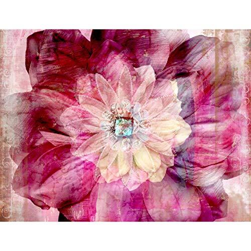 Fototapeten Mandala Blume 352 x 250 cm Vlies Wand Tapete Wohnzimmer Schlafzimmer Büro Flur Dekoration Wandbilder XXL Moderne Wanddeko - 100% MADE IN GERMANY - Rosa Rot Runa Tapeten 9045011a