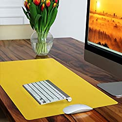 Casa Pura Non-slip Yellow Desk Mat | Desk Pad With Smooth Surface | 50x65cm (1.6'x2') | Pvc & Phthalate Free | In 10 Colours