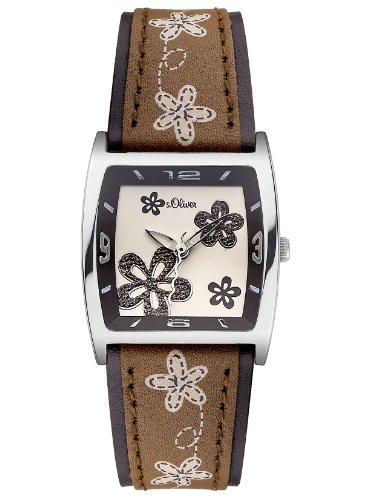s.Oliver Damen-Armbanduhr XS Analog Quarz Leder SO-2788-LQ