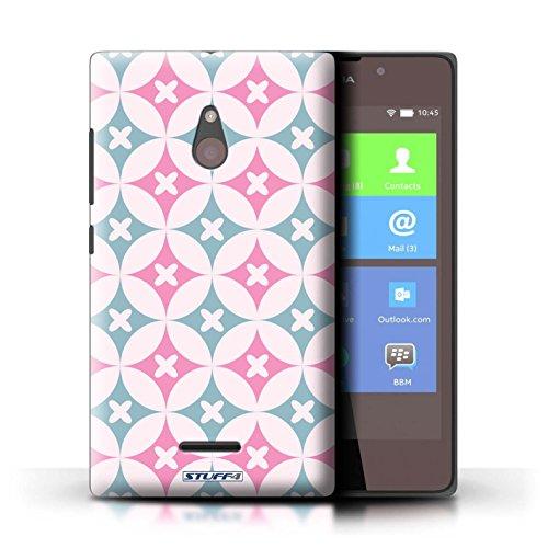 Kobalt® Imprimé Etui / Coque pour Nokia XL / Rouge / Bleu conception / Série Kaléidoscope Rose/Bleue