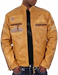Aviatrix Hommes Garçons JLI Mode Véritable Cuir Motards Veste Vintage Urbain Look Rétro Disponible En 3 Couleurs Différentes